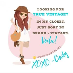 Please sort ⭐️ Brand > Vintage ⭐️ in my closet 💛